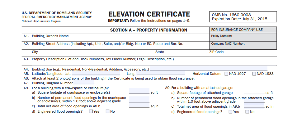 elevation certificate fema letter of map amendment